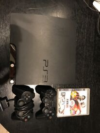 PlayStation PS3 with x2 controllers and x2 games