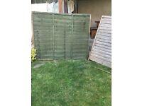 Garden fence panels 5ft x 6ft & green stain
