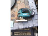 Makita cordless jigsaw with battery