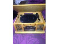 Gramophone record player cd a tape player