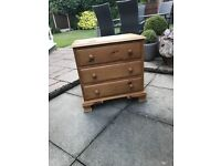 Set of pine drawers for sale.