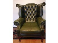 Chesterfield high backed chair
