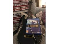 Guitar Hero Live ps4 Game, Guitar and Dongle