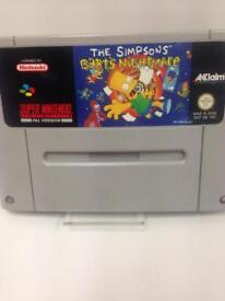 SNES The Simpsons Barts Nightmare PAL Version