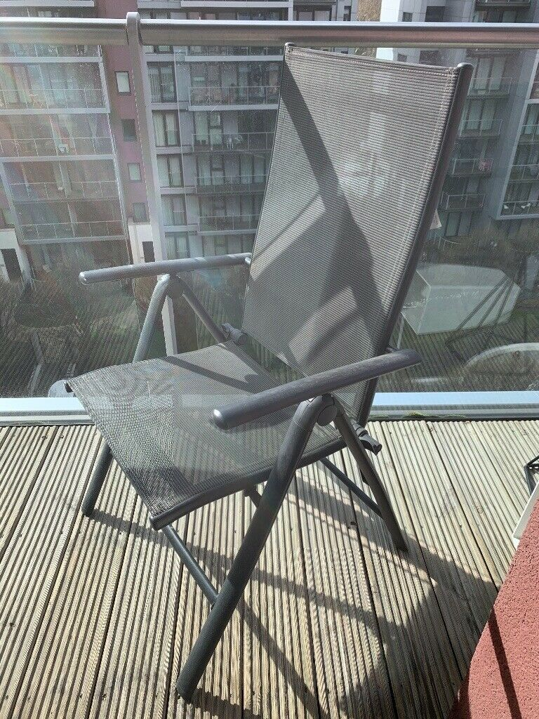 Brilliant Marquee Homebase Black Garden Chair X2 In South West London London Gumtree Machost Co Dining Chair Design Ideas Machostcouk