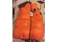 new with tags ralph lauren orange body warmer medium