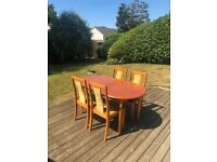 Early 1980's extendable table and four chairs