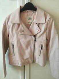 Pale pink faux leather jacket. M&S. 7-8. £5