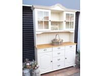 SOLID PINE-DRESSER-KITCHEN UNIT-WELSH DRESSER-SIDEBOARD-SHABBY CHIC