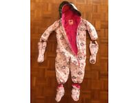 Muddy Puddles all in one snow suit / pram suit detachable gloves & booties