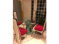 4 chair glass dining table and chairs