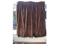 Rich, Chocolate Brown Velvet Curtains