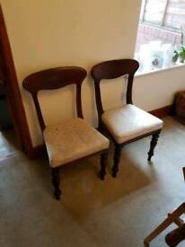 Pair of antique wooden chairs