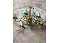 Beautiful Brass 5 arm Chandelier. VGC.