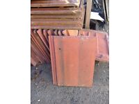 Red concrete Roof tiles 36 in total