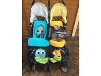 Cosatto twin/ double pushchair