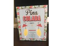 Pina colada glasses and accessories