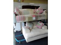 Exdisplay dfs patchwork sofa huge cuddle chair delivery