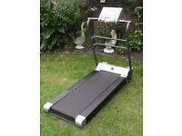 Roger Black Treadmill. Large LCD Screen: Speed/Body Fat/Calories/Targets etc.