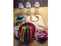 Baby feeding bottles and other feeding items