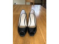 Russell and Bromley Patent Black Leather Heels size 36.5