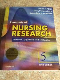 Essentials of Nursing Research, Methods, Appraisal and Utilization
