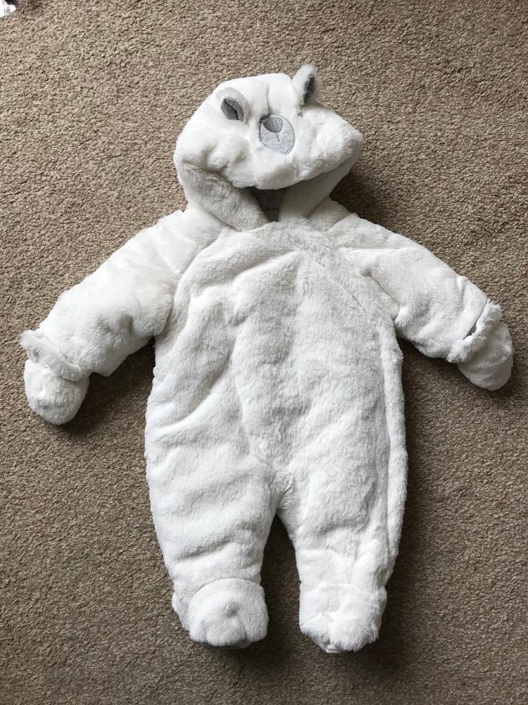 723e7f9a2ad9 Boots mini club White bear snow suit newborn.