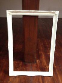 "White Wooden Picture/Mirror Frame Internal Aperture 20"" x 30"""