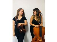 String duet for weddings and events.
