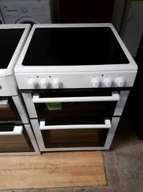 NEWWORLD DOUBLE OVEN ELECTRIC COOKER 60CM WIDTH WHITE