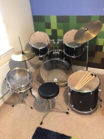 Rockburn DTX Series Full Size Drum Kit
