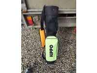 Childrens golf bags x 2