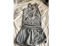 Adidas shorts and vest