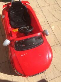 Kids outdoor Audi car