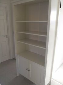 Marks & Spencer Hastings Bookcase Shelves & Storage Cupboard With Shelf White/Ivory