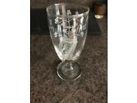 2x handmade Irish coffee glasses