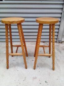 Pine breakfast bar stools