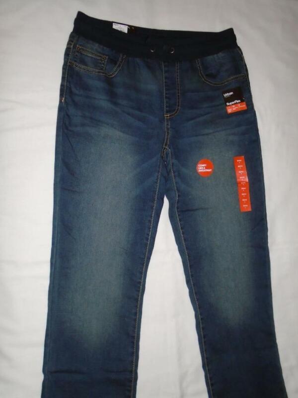 NEW Boys Size L 14-16 Urban Pipeline Jeans Elastic Waist Pull-On Skinny Fit NWT