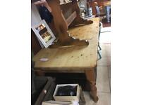*** REDUCED FOR QUICK SALE *** Quality thick 7ft solid pine table