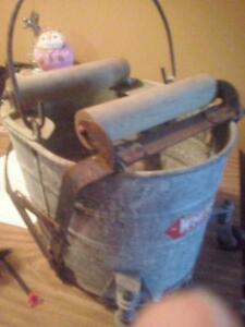 old fashion mop bucket