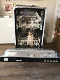 Curry's essentials slimline intergrated dishwasher 1 year old