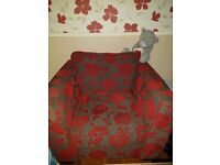 Red patterned armchair collection only cheap!!!