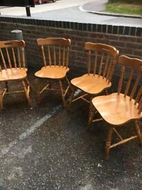 Pine cottage style chairs