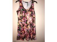 Floral skater type dress great for wedding size 22