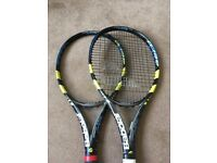For Sale Pair of Babolat Original Grip 3 Aero Pro Drives - Nadals frame