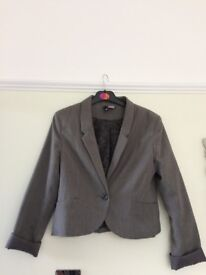 Grey fitted jacket H & M