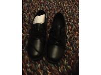 Kickers black school shoes - new / unworn Size 6