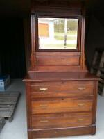 beautiful oak dresser circa 1850s