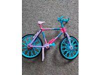 Barbie doll bicycle