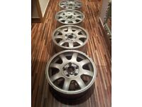Set of 4 genuine Audi Alloy Wheels (but suits other makes too)